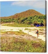 El Garrapatero Beach On Santa Cruz Island In Galapagos. Canvas Print