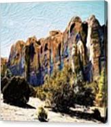 El Morro Cliffs Canvas Print