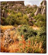El Torcal Rock Formations Canvas Print