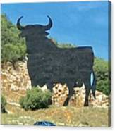 El Toro In The Andalucian Countryside Canvas Print