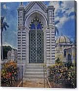 Elaborate Mausoleum  Colon Cemetery Havana Cuba Espada Cemetery Canvas Print