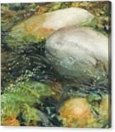 Elbow River Rocks 2 Canvas Print