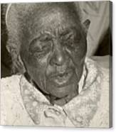 Elderly Woman Canvas Print