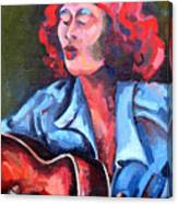 Eleanor Ellis - Diving Duck Blues Canvas Print