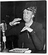 Eleanor Roosevelt At Hearing Canvas Print