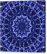 Electric Blue Mandala Canvas Print