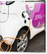 Electric Car Canvas Print