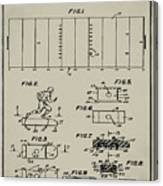 Electric Football Patent 1955 Aged Gray Canvas Print