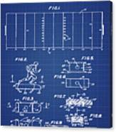 Electric Football Patent 1955 Blueprint Canvas Print