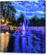 Electric Fountain  Canvas Print
