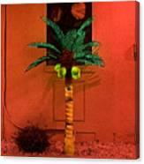 Electric Palm Tree Canvas Print