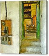 Electric Panel Of The Ceramic Laboratory Canvas Print