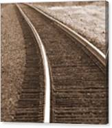 Electric Rails Canvas Print