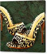 Electric Slide In Leopard Canvas Print