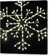 Electric Snowflake Canvas Print
