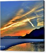 Electric Sunrise Canvas Print