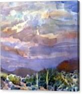 Electric Sunset Canvas Print