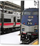 Electric Trains At Union Station Canvas Print