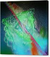 Electric Triangle In Green Canvas Print
