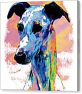 Electric Whippet Canvas Print
