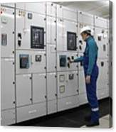 Electrical Panel Board Manufacturers Canvas Print