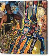 Electricity Hand La Mano Poderosa Canvas Print