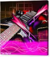 Electro Guitar Canvas Print