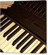 Electronic Keyboard Canvas Print