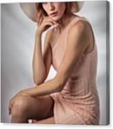 Elegant Johanna In Peach Canvas Print