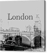 Elegant London Canvas Print
