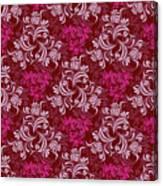 Elegant Red Floral Design Canvas Print