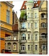 Elegant Vienna Apartment Building Canvas Print