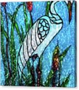 Elegant White Heron Canvas Print