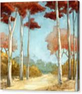 Elegantredforest Canvas Print