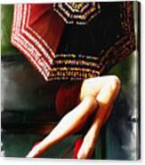 Elena Umbrella Canvas Print