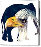 Elephant And Eagle Canvas Print