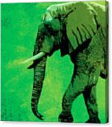 Elephant Animal Decorative Green Wall Poster 4 Canvas Print