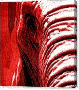 Elephant Animal Decorative Red Wall Poster 14 - By  Diana Van Canvas Print