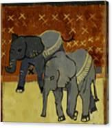 Elephant Calves Canvas Print