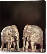 Elephant Figures Canvas Print