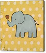 Elephant Love Canvas Print