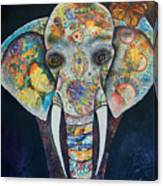 Elephant Mixed Media 2 Canvas Print