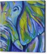 Elephant On Parade Canvas Print