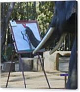 Elephant Painting Canvas Print