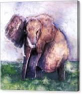 Elephant Poised Canvas Print
