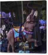 Elephant Ride At The Fair Canvas Print