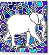 Elephant Rocker Blue Magoo Canvas Print