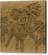 Elephants Three Canvas Print