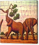 Elephants View Canvas Print