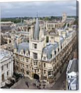 Elevated View Of Cambridge Canvas Print